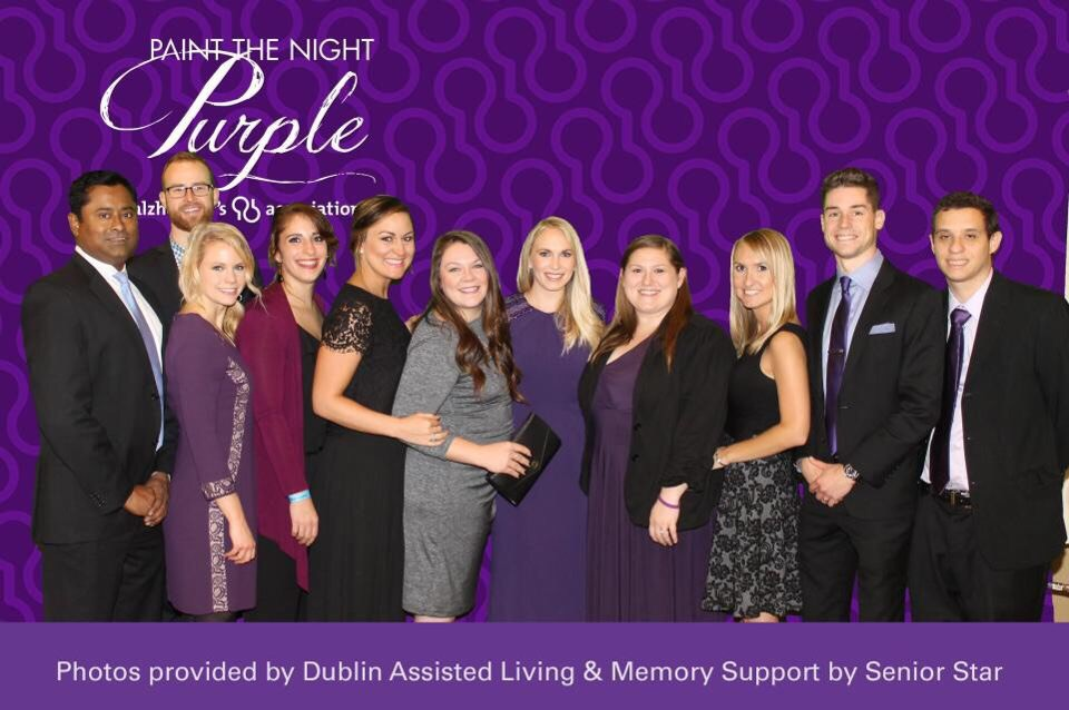 JC members at the 2016 Paint the Night Purple Gala